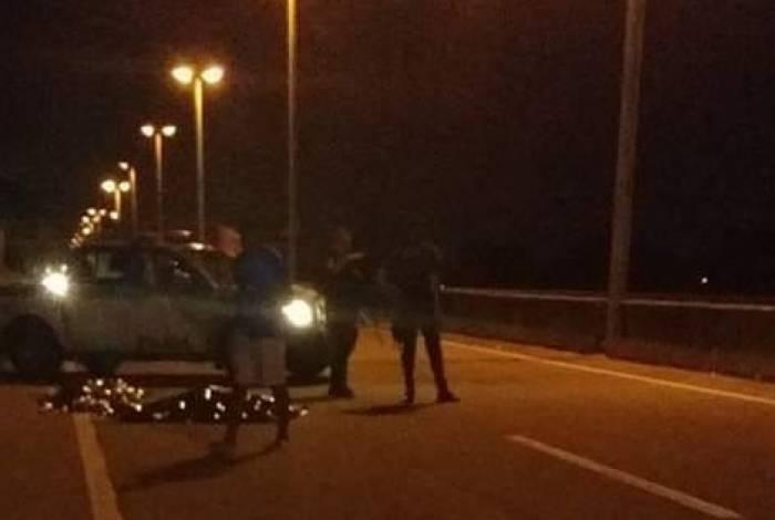 Acidente na Via Light aconteceu na pista sentido Nova Iguaçu