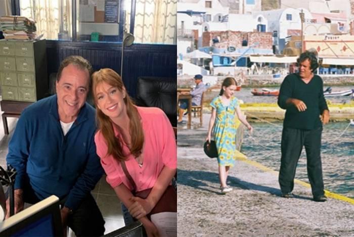 Marina Ruy Barbosa posa com Tony Ramos e relembra novela