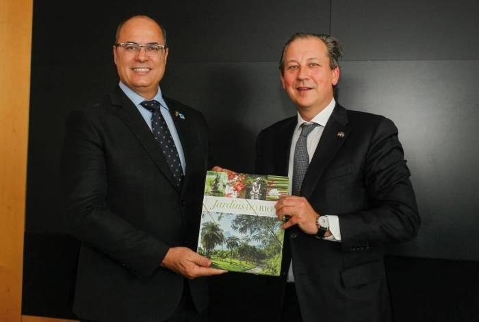 Wilson Witzel e Oliver Pietz, representante da Deutsche Bahn