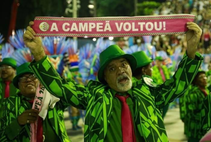 Desfile da estação primeira de Mangueira, campeã do carnaval do Rio