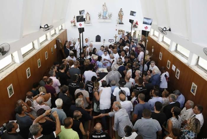 Velório do presidente do Conselho dos Beneméritos, Eurico Miranda, na Capela Nossa Senhora das Vitórias