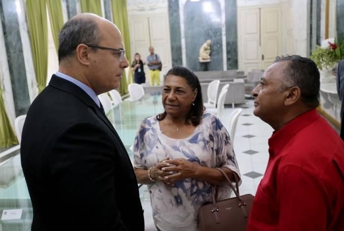 Governador recebe pais de Marielle Franco no Palácio Guanabara