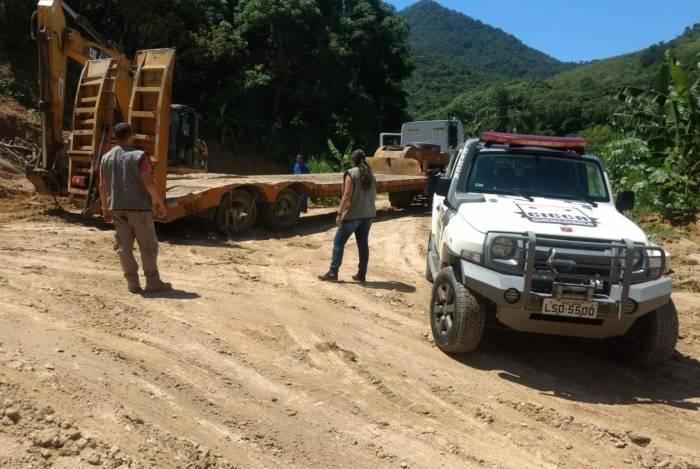 Operação flagrou extração ilegal de minério  em unidade de conservação