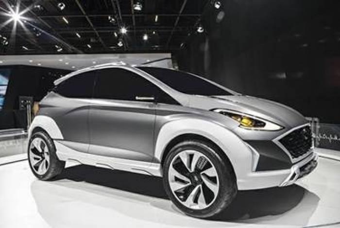 Conceito elétrico Saga EV foi apresentado pela marca coreana no Salão do Automóvel de São Paulo Interior do HB20 deve ser inspirado no desenho do novo Kona