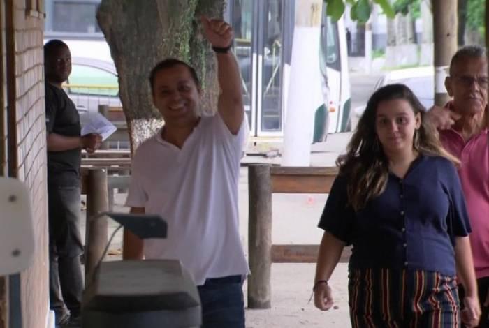 Rodrigo Neves e a filha