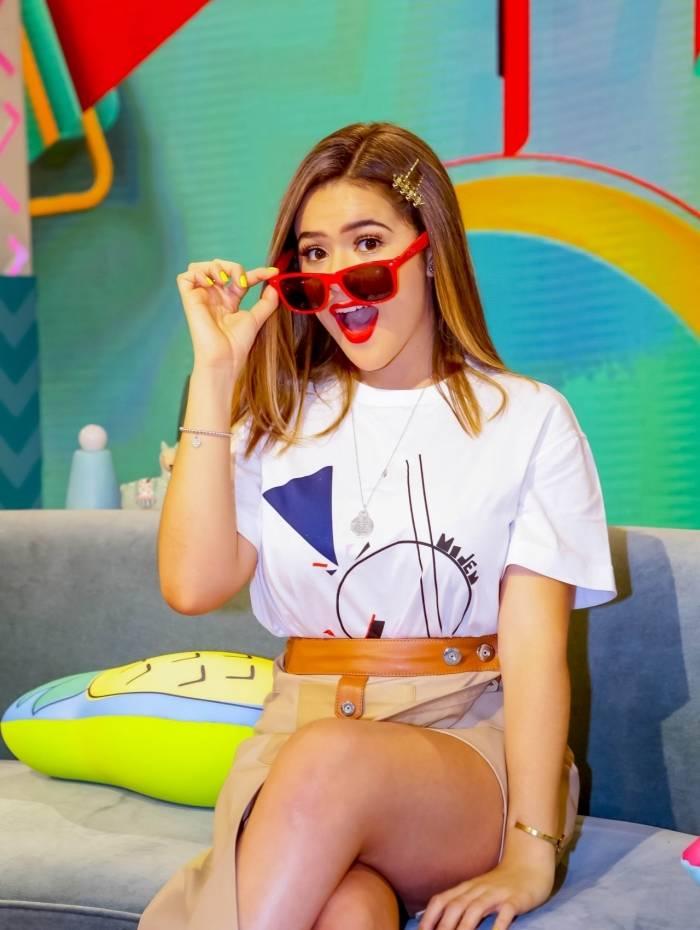 Maisa Silva ficou surpresa ao ver cena do quadro 'Banheira do Gugu'