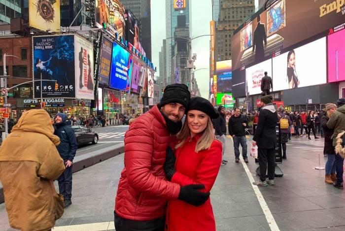 Juliana Kelling e Michel Magno em Nova York