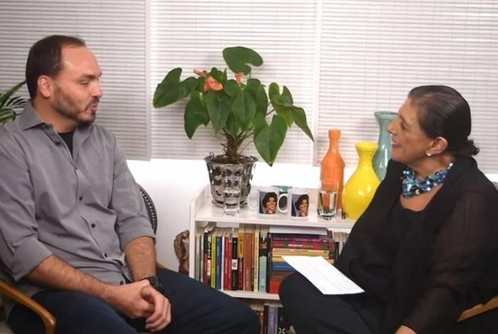Carlos Bolsonaro deu rara entrevista à Leda Nagle