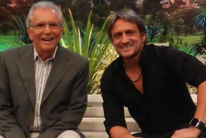 Carlos Alberto de Nóbrega e o filho, Marcelo de Nóbrega