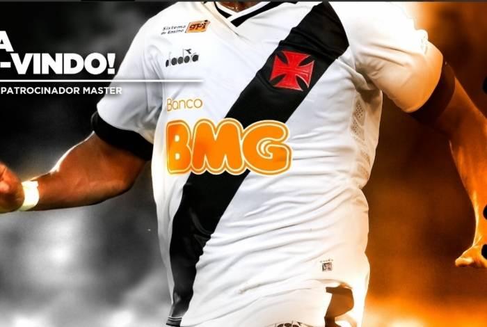 Vasco de Werley volta a estampar marca no principal espaço da camisa. Banco já foi parceiro do clube em outro período