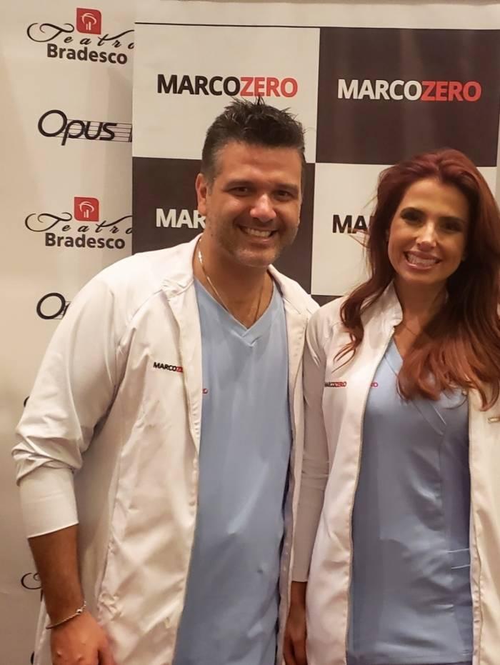 Os médicos Erica e Domingos Mantelli dão a palestra 'Marco Zero!'