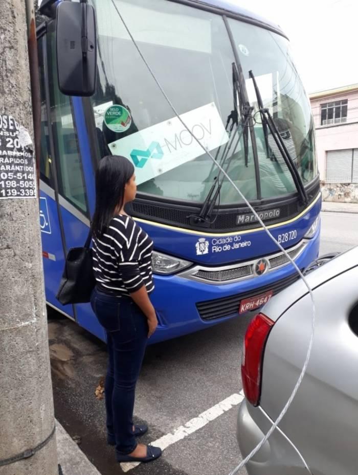 Passageira do ônibus do aplicativo disse que optou pelo transporte por considerá-lo mais seguro