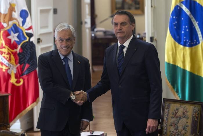 Sebastian Pinera, Presidente do Chile, e Jair Bolsonaro
