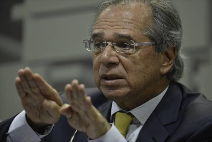Paulo Guedes, ministro da Economia, recebeu representantes do setor de seguros