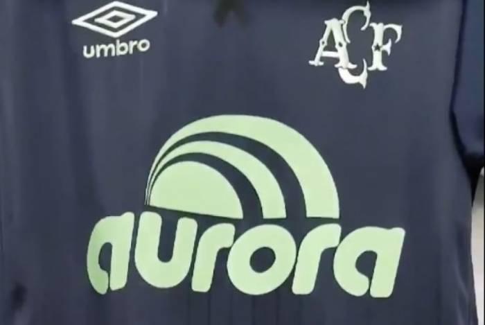 Camisa que a Chapecoense usará na noite desta quarta-feira