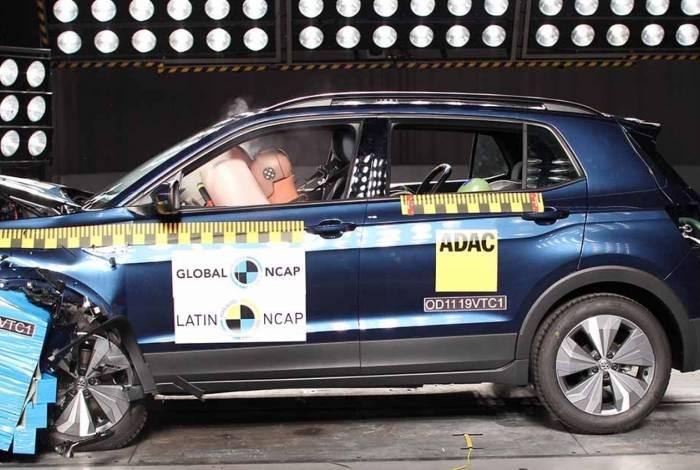 O novo SUV da Volkswagen passou por três testes de colisão diferentes, do tipo lateral, frontal e poste