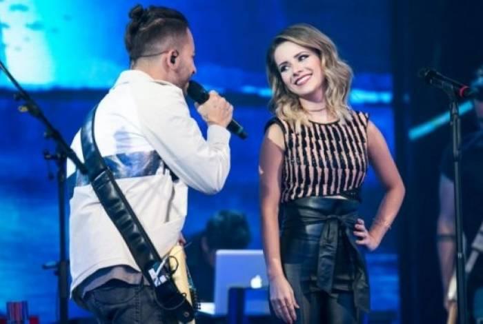 Sandy e Junior se apresentaram na TV Globo