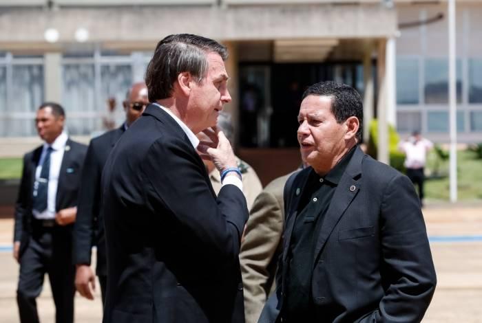 Jair Bolsonaro e o vice, Hamilton Mourão