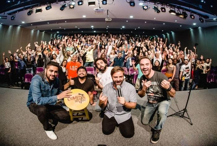 Espetáculo 'Comédia Ao Vivo' estreia no Teatro Bradesco
