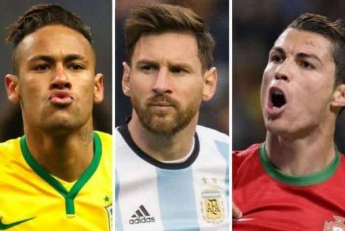 Neymar, Messi e Cristiano Ronaldo são os três jogadores mais bem pagos do mundo