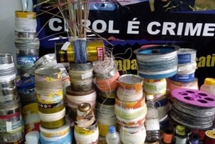 Venda de linha chilena é proibida por lei. O produto, à base de alumínio e quartzo, tem capacidade de corte quatro vezes maior do que cerol