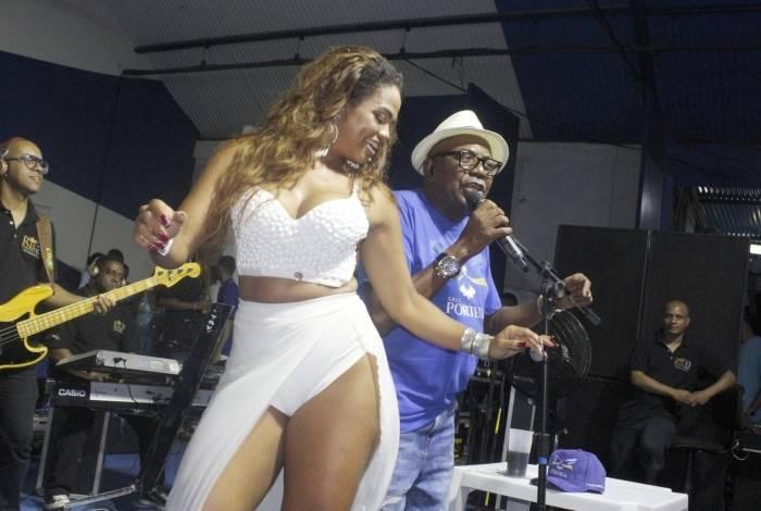 A rainha de bateria da Portela, Bianca Monteiro