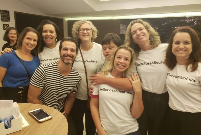 Mouhamed Harfouch, Alessandra Maestrini e Mirna Rubim apoiam causa de pessoas com deficiência