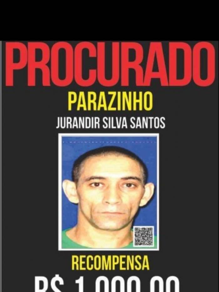 Jurandir Silva Santos, o Parazinho, foi preso baleado no Hospital Municipal Albert Schweitzer