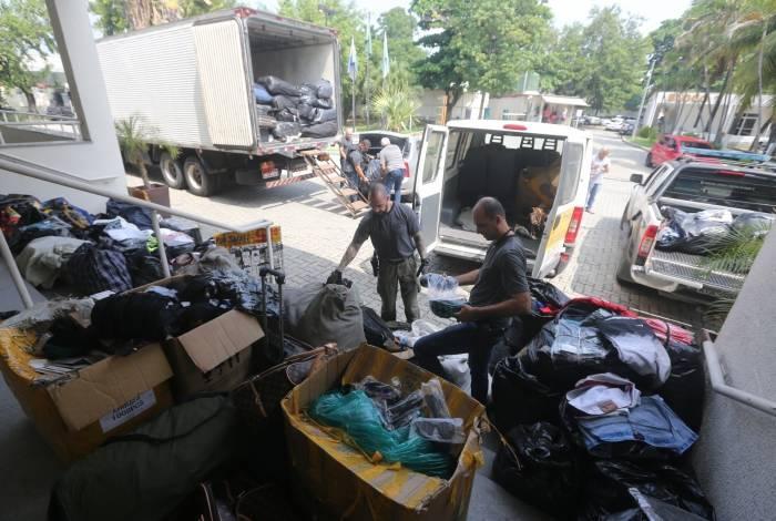 Operação apreendeu nove toneladas de produtos falsificados no Centro do Rio
