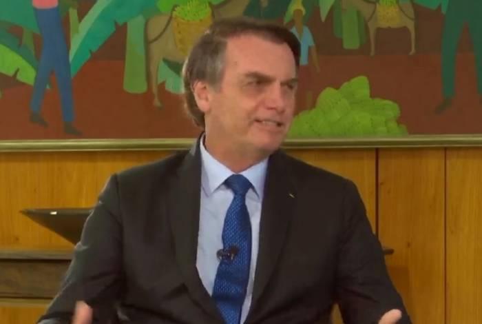Presidente da República, Jair Bolsonaro, durante entrevista