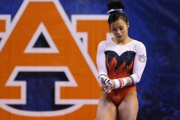A ginasta Sam Cerio competia pela Universidade de Auburn