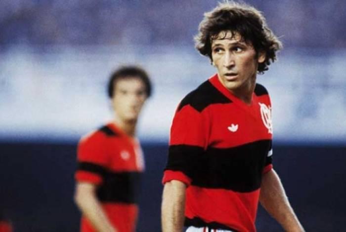 Zico comandava o Flamengo nos anos 80