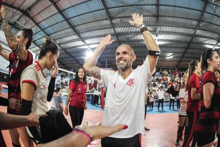 Alexandre Ferrante, técnico do time feminino de vôlei do Flamengo