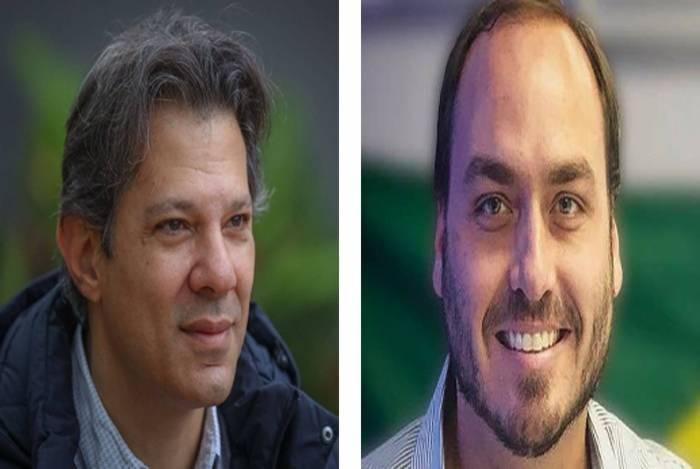 Fernando Haddad e Carlos Bolsonaro