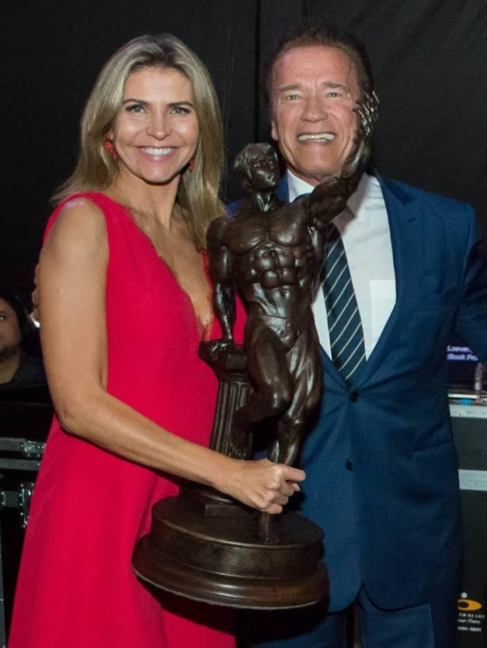 Ana Paula Leal e Arnold Schwarzenegger