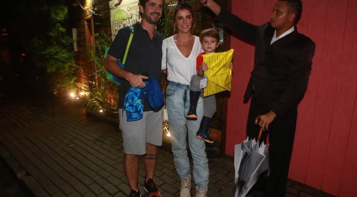 Felipe Andreoli, Rafa Brittes e o filho do casal