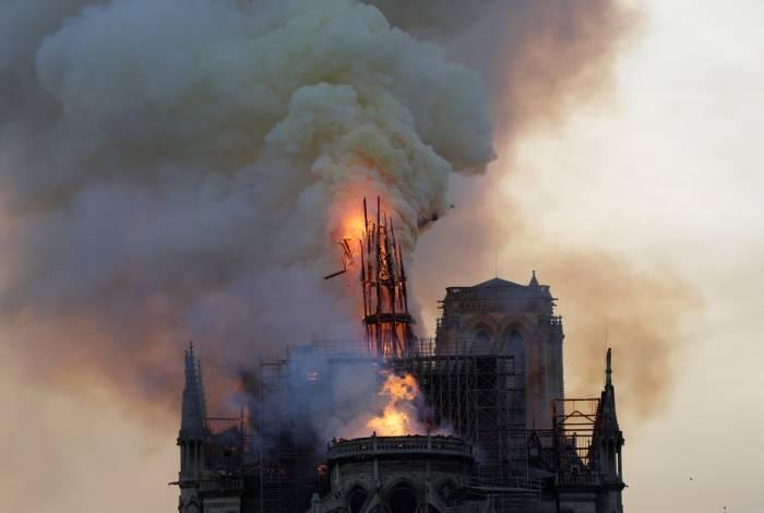 Incêndio na Catedral de Notre-Dame em abril deste ano