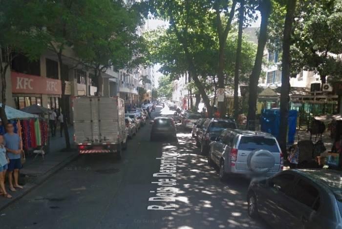 Rua Dois de Dezembro onde ocorreu o caso