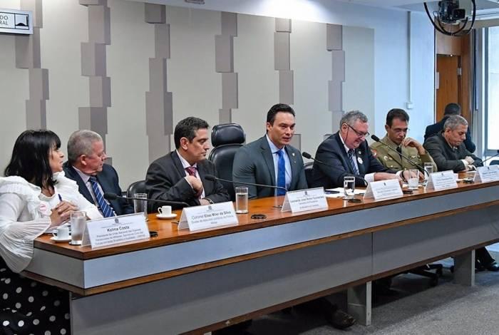 Secretário de Previdência Leonardo Rolim em audiência no Senado