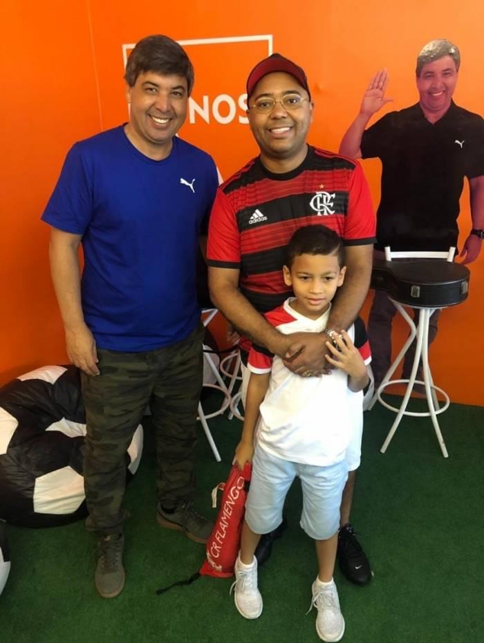 Edilson Silva, Dudu Nobre e o filho João Eduardo
