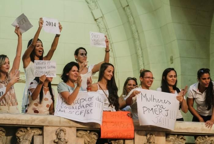 Aprovadas e aprovados em concurso para a PM articularam com o presidente da Alerj, André Ceciliano, que apresentasse projeto de lei