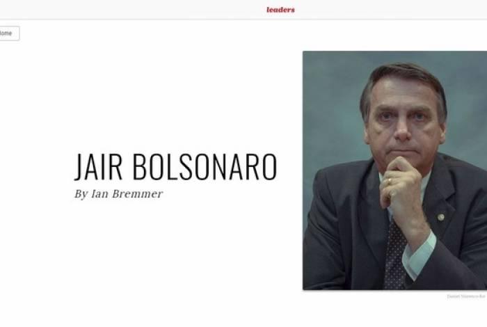 Bolsonaro está entre 100 personalidades influentes do ano da revista Time