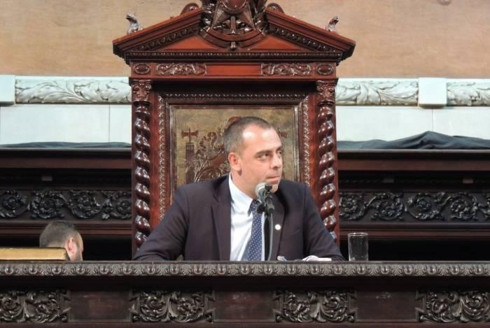 Deputado estadual Anderson Moraes (PSL), autor do PL 199/19 que propõe que as notas fiscais informem o valor destinado ao Fundo de Combate à Pobreza (PECP)