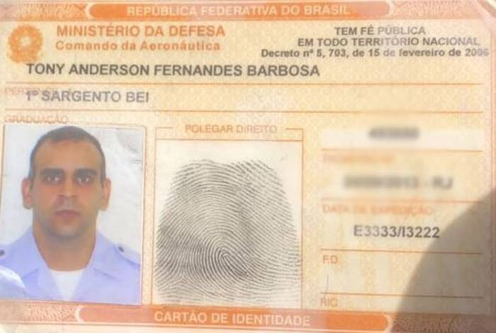 O sargento Tony Ramos tinha 41 anos