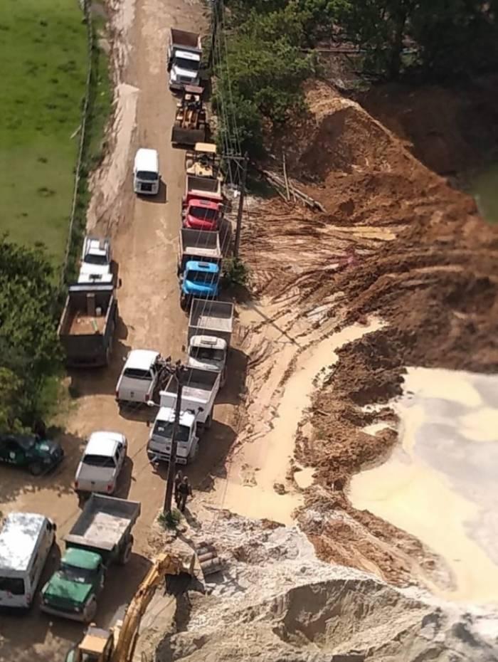 Um dos três areais fechados por órgãos ambientais e MPF por suposta extração ilegal em Duque de Caxias