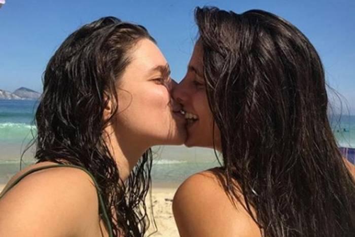 Bruna Linzmeyer e a namorada, Priscila