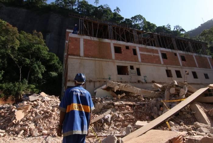 Desabamento aconteceu no dia 12 de abril