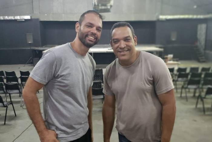 Os atores Fábio Mateus e Anderson Marques são os idealizadores do projeto