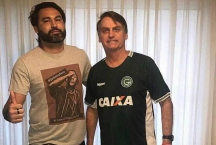 Leo com o tio Jair Bolsonaro: nos primeiros 45 dias do governo, ele esteve 58 vezes no Palácio do Planalto
