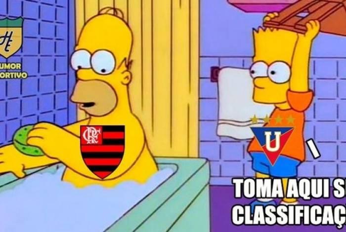 Flamengo perdeu para a LDU